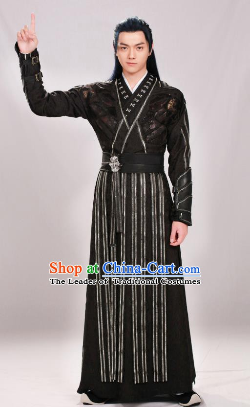 Chinese Ancient Ming Dynasty Swordsman Costume Knight Clothing for Men