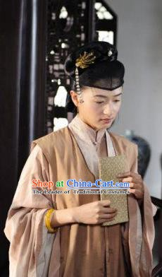Chinese Ancient Ming Dynasty Courtesan Liu Rushi Historical Costume Official Mistress Dress for Women