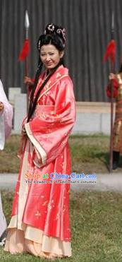 Chinese Ancient Song Dynasty Courtesan Dress Replica Costume for Women
