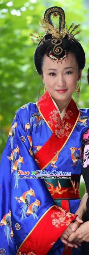 Chinese Ancient Song Dynasty Empress Zheng of Zhao Ji Embroidered Dress Replica Costume for Women