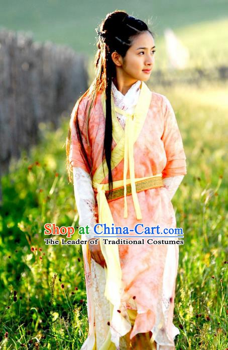Chinese Ancient Song Dynasty Swordswoman Huang Rong Replica Costume for Women