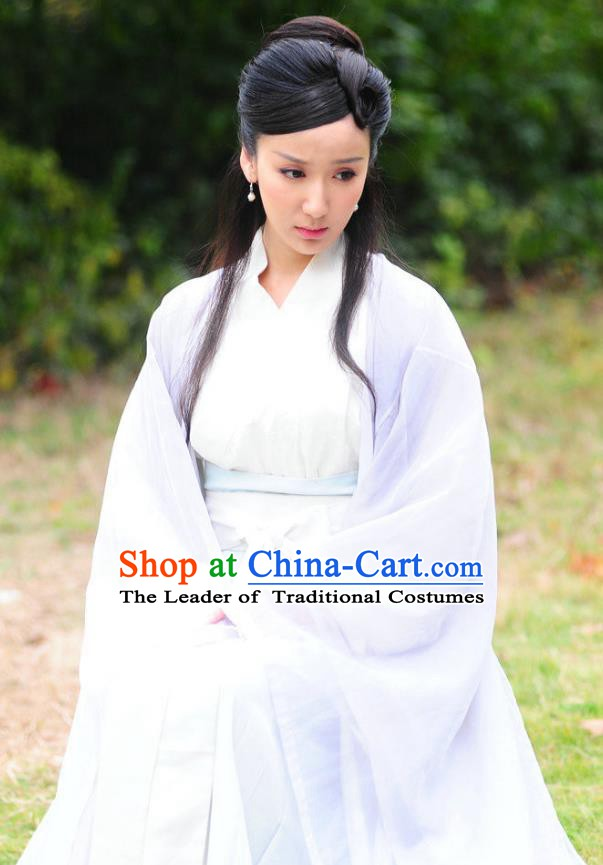 Chinese Ancient Song Dynasty Imperial Concubine Pang of Zhao Zhen Dress Replica Costume for Women