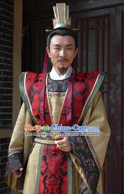 Chinese Ancient Song Dynasty Big Traitor Qin Hui Replica Costume for Men