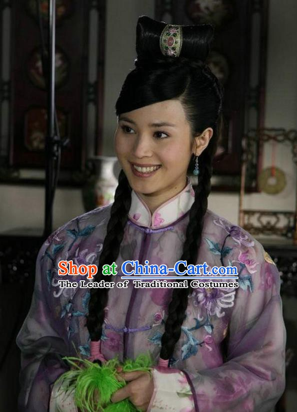 Ancient Chinese Ming Dynasty Young Lady Replica Costume for Women