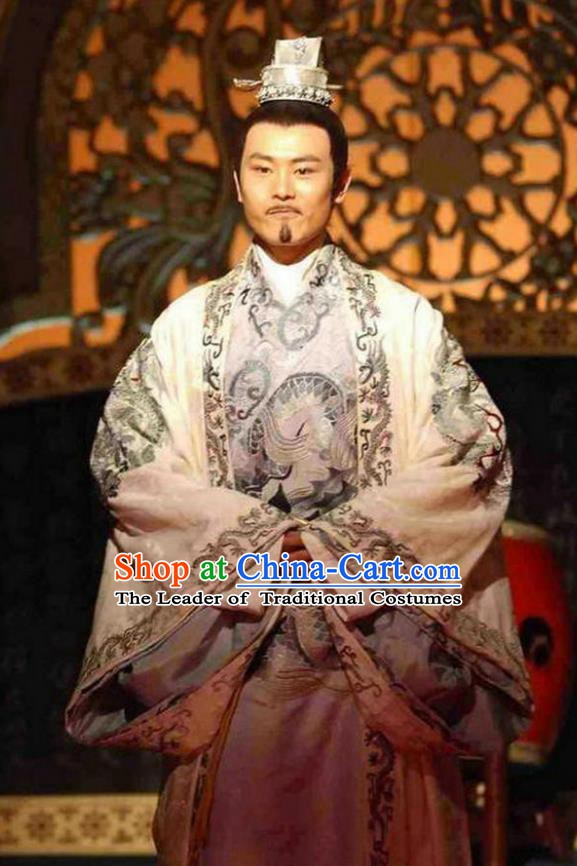 Ancient Chinese Song Dynasty Emperor Zhao Guangyi Replica Costume for Men