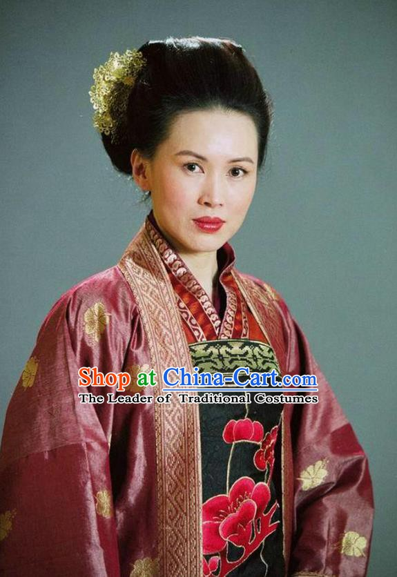 Ancient Chinese Song Dynasty General She Saihua Swordswoman Replica Costume for Women