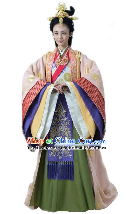 Ancient Chinese Song Dynasty Palace Princess Embroidered Dress Replica Costume for Women