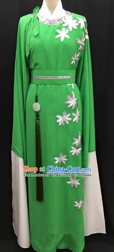 China Traditional Beijing Opera Niche Green Robe Chinese Peking Opera Gifted Scholar Costume