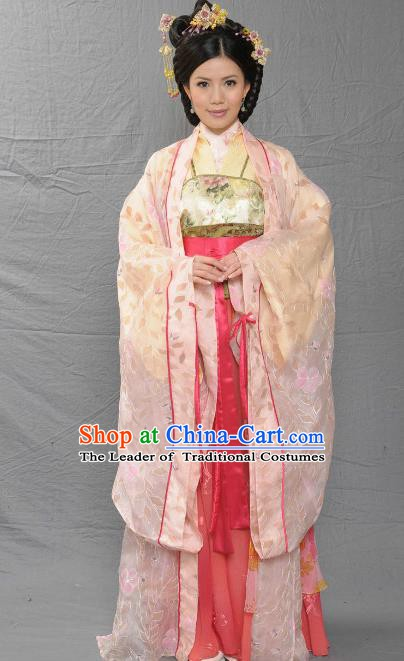 Chinese Song Dynasty Palace Lady Embroidered Mullet Dress Ancient Imperial Consort of Zhao Yun Replica Costume for Women
