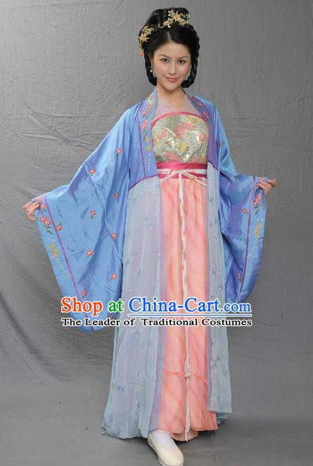 Chinese Song Dynasty Palace Lady Embroidered Dress Ancient Imperial Consort of Zhao Yun Replica Costume for Women
