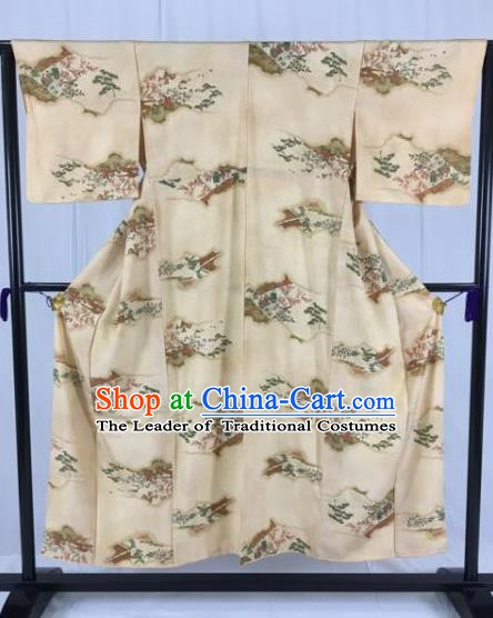 Japan Traditional Palace Formal Costume Furisode Kimonos Ancient Yukata Dress for Women