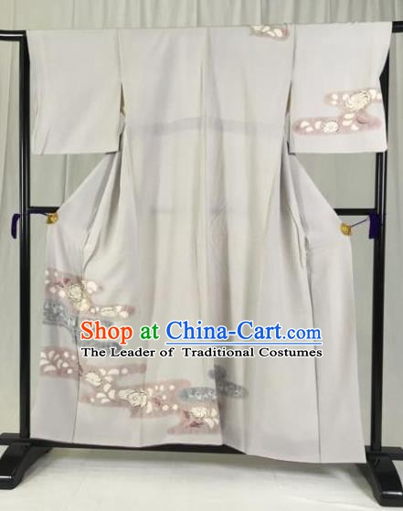 Japanese Traditional Kimono Ancient Samurai Yukata Robe Wafuku Hakama Haori Clothing for Men