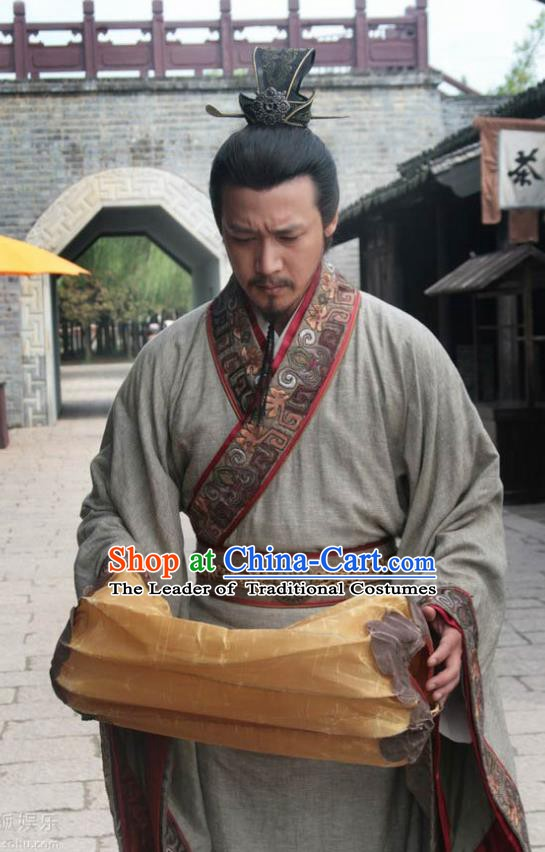 Chinese Song Dynasty Poet Su Shi Clothing Litterateur Su Tungpo Replica Costume for Men