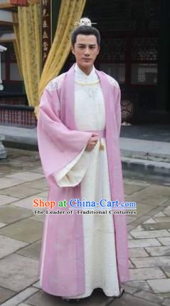 Chinese Song Dynasty Emperor Renzong Zhao Zhen Costume for Men