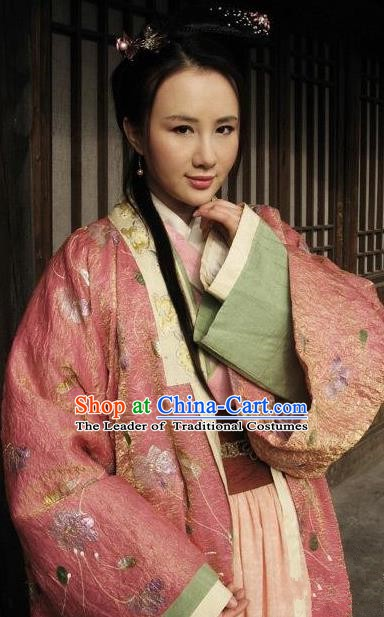 Chinese Ancient Costume Song Dynasty Novel Water Margin Character Pan Jinlian Replica Costume for Women