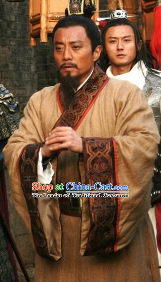 Chinese Ancient Novel Water Margin Character Song Jiang Costume Song Dynasty Mount Liang Castellan Replica Costume