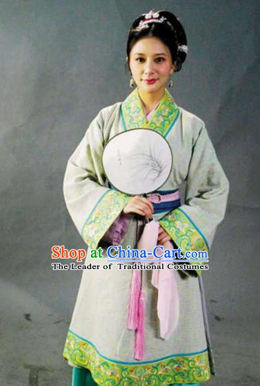 Chinese Ancient Novel Water Margin Character Yan Poxi Replica Costume for Women