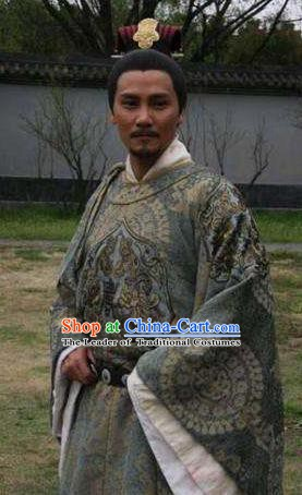 Ancient Chinese Southern Song Dynasty Emperor Zhao Gou Replica Costume for Men