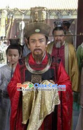 Chinese Ancient Song Dynasty Prime Minister Ding Wei Replica Costume for Men