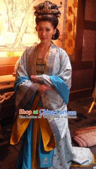 Chinese Ancient Southern Song Dynasty Imperial Consort of Zhao Gou Embroidered Dress Replica Costume for Women