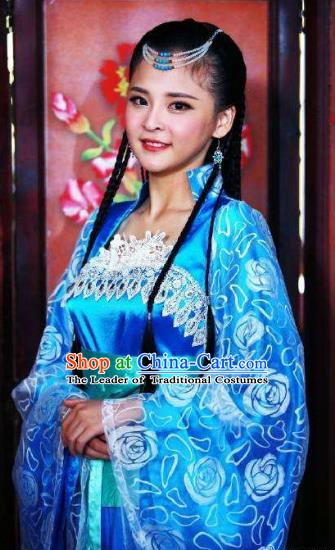 Chinese Ancient Ming Dynasty Imperial Guards Embroidered Replica Costume for Women