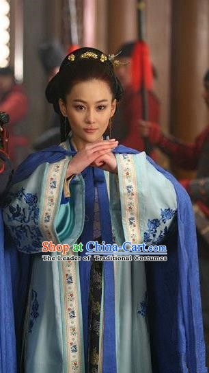 Chinese Ancient Song Dynasty Female General Liang Hongyu Embroidered Replica Costume for Women