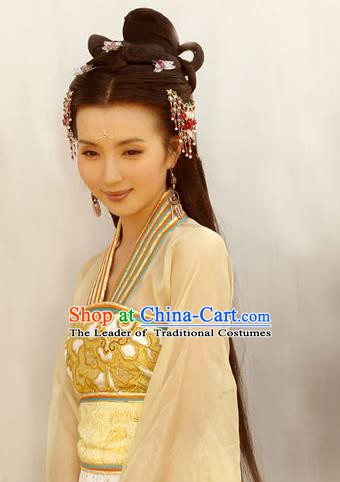 Chinese Ancient Khotan Kingdom Princess Dress Embroidered Replica Costume for Women