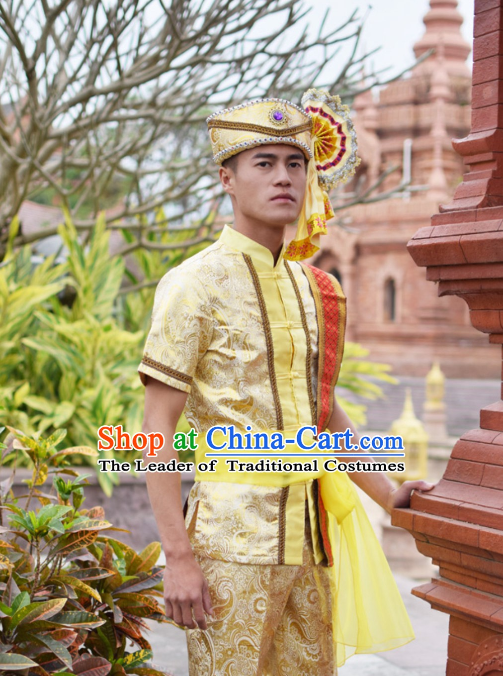 Top Traditional National Thai Dress Thai Traditional Dress Dresses Wedding Dress online for Sale Thai Clothing Thailand Clothes Complete Set for Men Boys Youth
