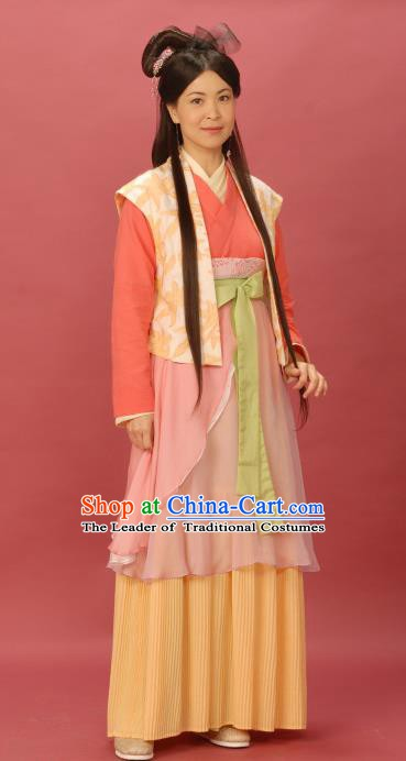 Chinese Ancient Song Dynasty Female Knight-errant Young Lady Replica Costume for Women