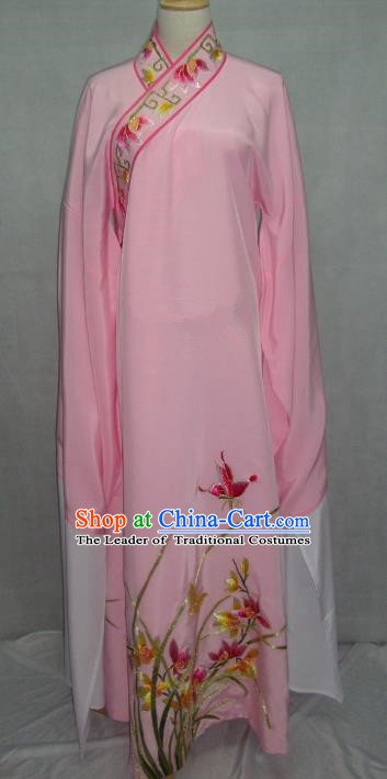 China Beijing Opera Niche Embroidered Orchid Pink Robe Chinese Traditional Peking Opera Scholar Costume for Adults