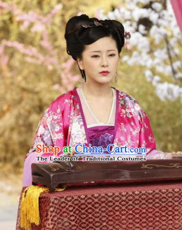 Chinese Traditional Tang Dynasty Palace Lady Dress Courtesan Replica Costume for Women