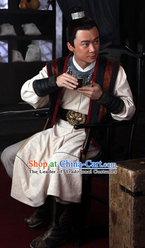Traditional Chinese Tang Dynasty Knight-errant Swordsman Hanfu Costume for Men
