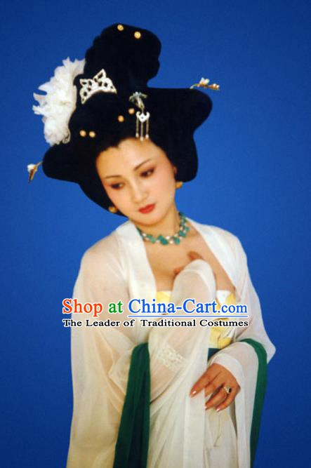 Chinese Ancient Tang Dynasty Imperial Consort Yang Replica Costume for Women