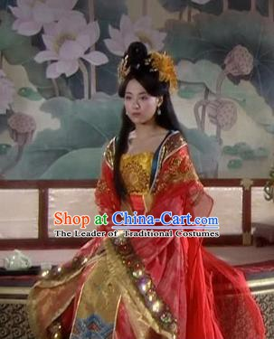 Chinese Tang Dynasty Princess Gao Yang Hanfu Dress Wedding Replica Costume for Women