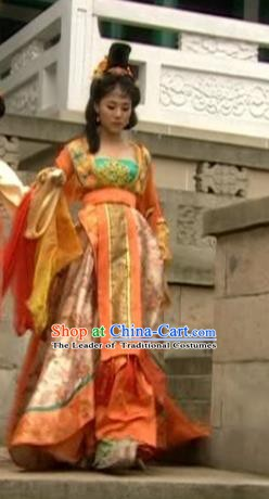 Chinese Tang Dynasty Princess Gao Yang Hanfu Dress Replica Costume for Women