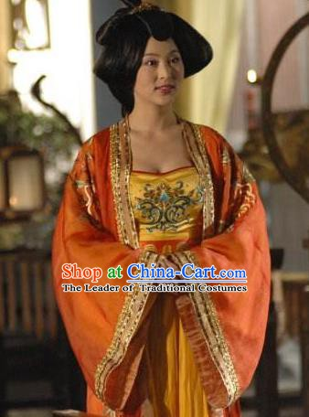 Ancient Chinese Tang Dynasty Empress Zhangsun Hanfu Dress Queen Replica Costume for Women