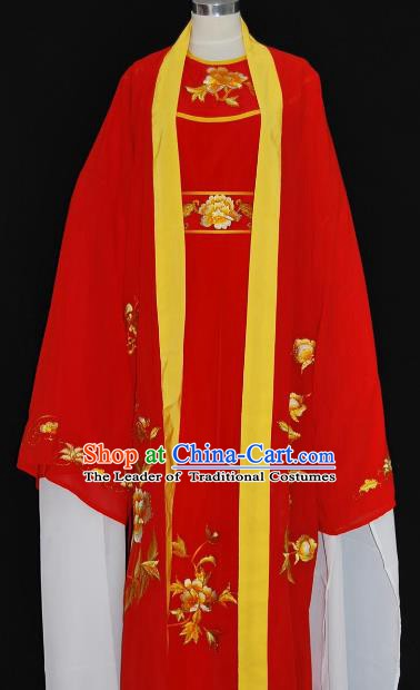 Traditional Chinese Beijing Opera Scholar Red Robe Costume Peking Opera Niche Clothing for Adults