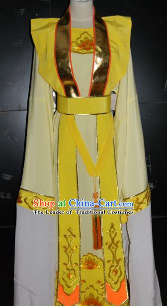 Traditional Chinese Beijing Opera Costume Peking Opera Niche Yellow Clothing for Adults