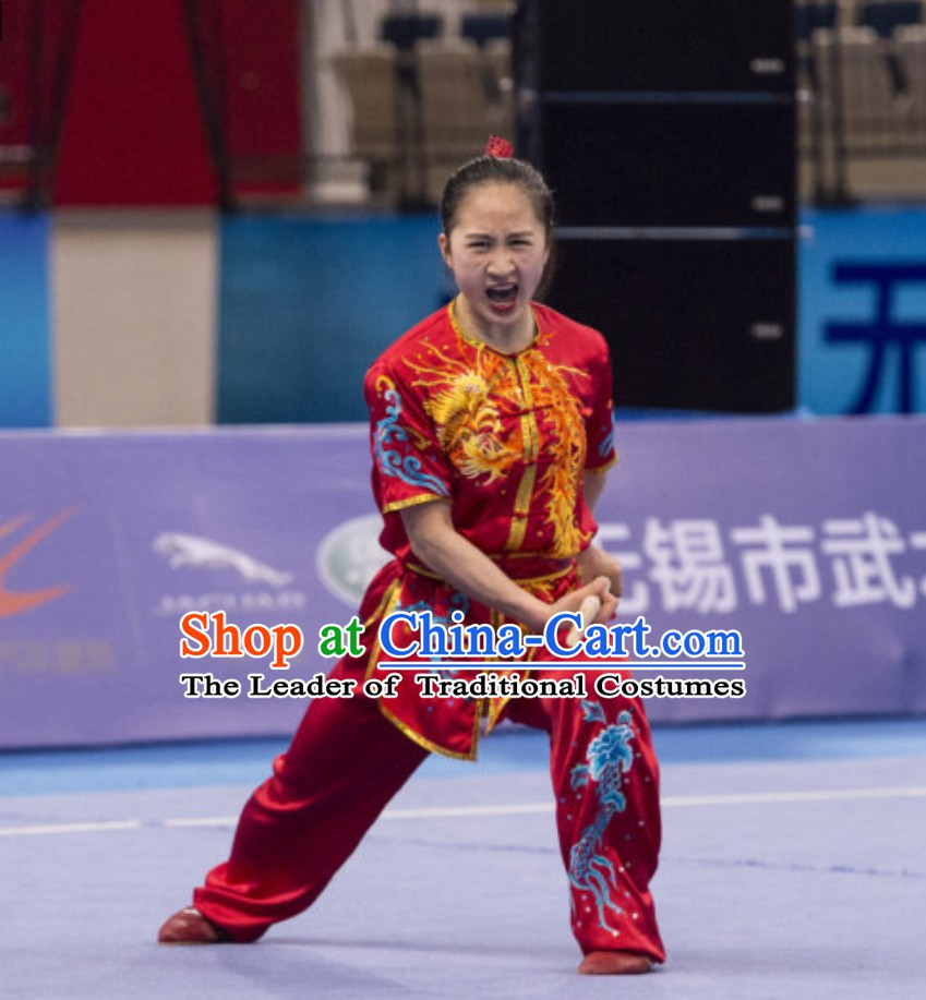 Top Kung Fu Suit Kung Fu Uniform Chinese Jacket Taiji Clothes Dress Dresses Kung Fu Clothing Embroidered Tai Chi Suits Custom Kung Fu Embroidery Uniforms