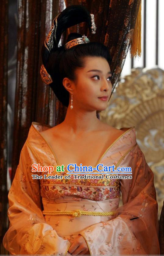 Ancient Chinese Tang Dynasty Palace Lady Hanfu Dance Dress Consort Yang Replica Costume for Women