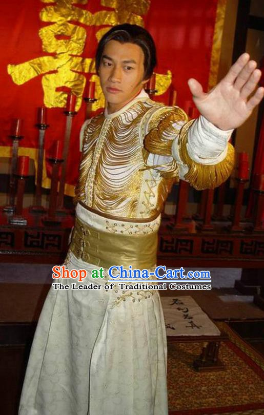 Chinese Ancient Tang Dynasty Prince Qin Li Shimin Embroidered Replica Costume for Men