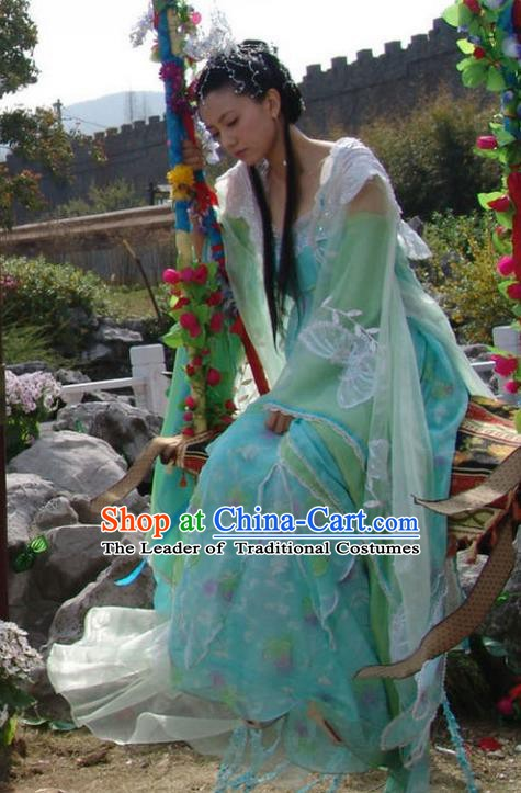 Ancient Chinese Tang Dynasty Palace Lady Crown Princess of Li Jiancheng Hanfu Dress Replica Costume for Women