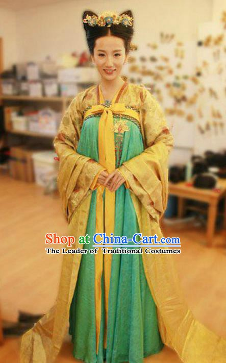 Ancient Chinese Tang Dynasty Palace Infanta Hanfu Dress Replica Costume for Women