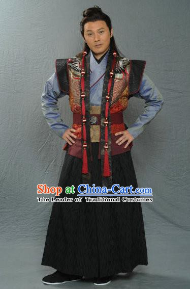 Traditional Chinese Ancient Costume Song Dynasty Swordsman Replica Clothing for Men