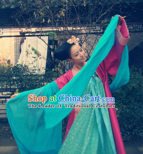 Chinese Ancient Tang Dynasty Geisha Hanfu Dress Historical Costume for Women