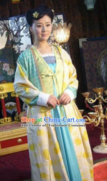 Chinese Ancient Tang Dynasty Court Lady Hanfu Dress Historical Costume for Women