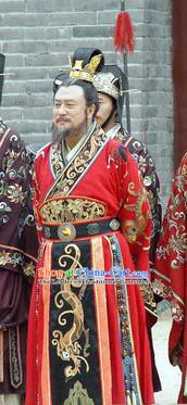 Traditional Chinese Ancient Emperor Yang of Sui Dynasty Yang Guang Replica Costume for Men