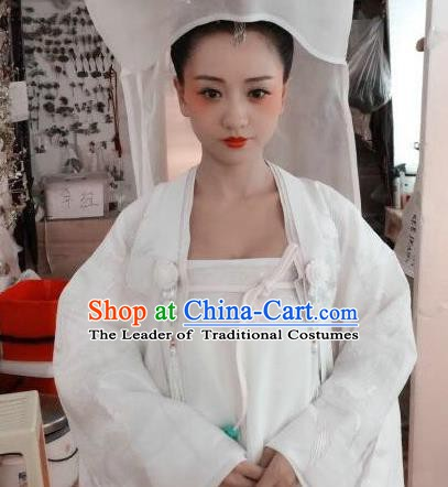 Chinese Ancient Tang Dynasty Courtesan Geisha Hanfu Dress Historical Costume for Women