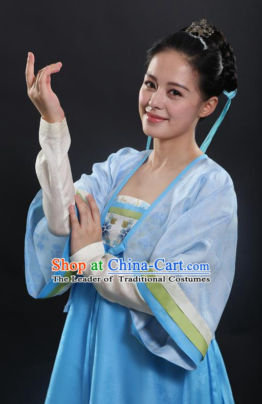 Chinese Ancient Tang Dynasty Aristocratic Lady Hanfu Dress Historical Costume for Women