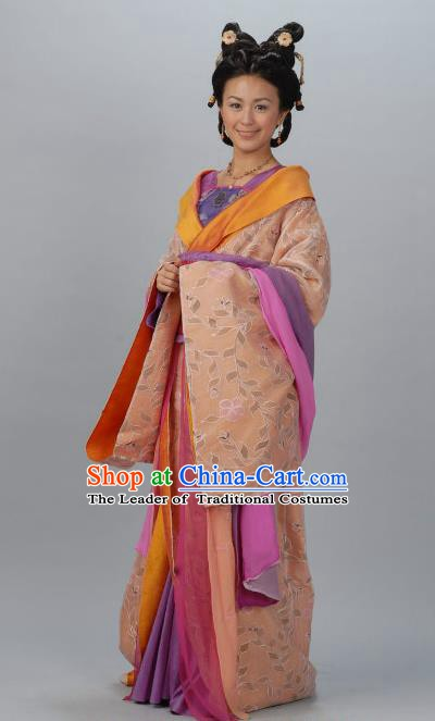 Chinese Ancient Tang Dynasty Palace Female Officials Shangguan Waner Hanfu Dress Historical Costume for Women